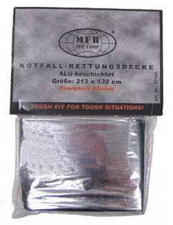 Manta Termica, recubierta de aluminio.