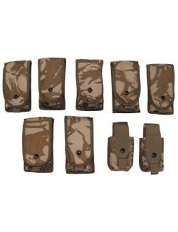 Set pouch municion, ejercito Inglés, original, 9 piezas, molle.