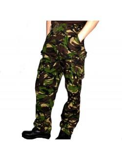 Pantalones de combate GB, DPM woodland camo.