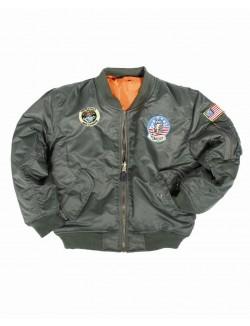 Bomber MA1 clásica de piloto americano con parches