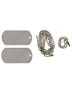 Chapas de identificación con cadena y silenciador