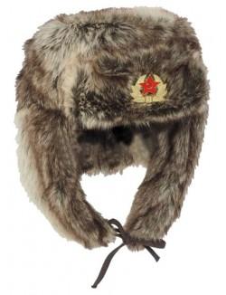 Gorro ruso de pelo con emblema