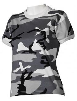Camiseta SkyBlue Camo, 100% algodón