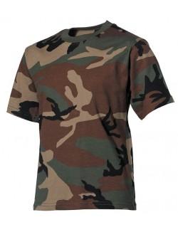 Camiseta de niños, woodland camo
