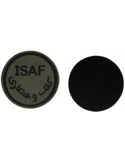 Parche ISAF on velcro, color OD
