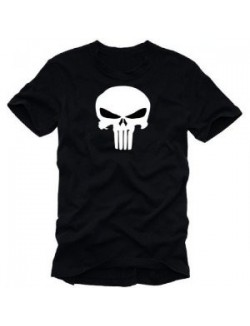 Camiseta manga corta Punisher, negra