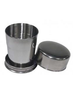 Vaso telescópico de acero inoxidable, 15 cl