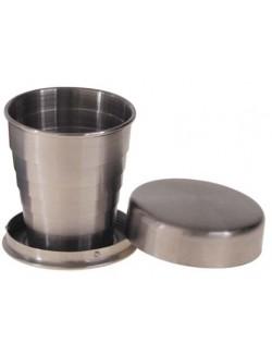 Vaso telescópico de acero inoxidable, 4 cl