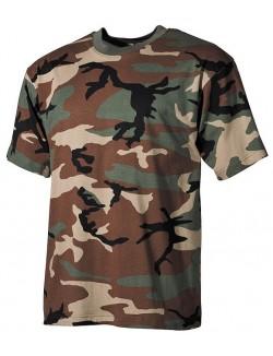 Camiseta Woodland Camo, 100% algodón