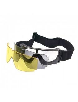 Gafas de protección X800, con 3 cristales