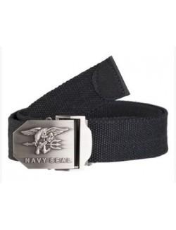 Cinturón hebilla Navy Seals, negro