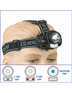 Linterna Frontal Xenon + 3 LED