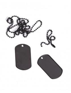 Chapas de identificación con cadena, Negras