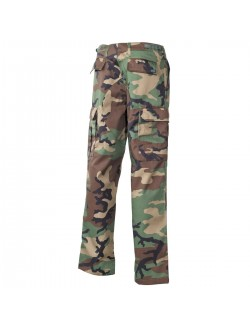 Pantalón US BDU reforzado, color Negro