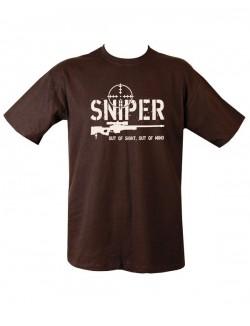 Camiseta Sniper negra 100% algodón