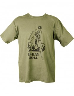 Camiseta D-Day Doll verde 100% algodón
