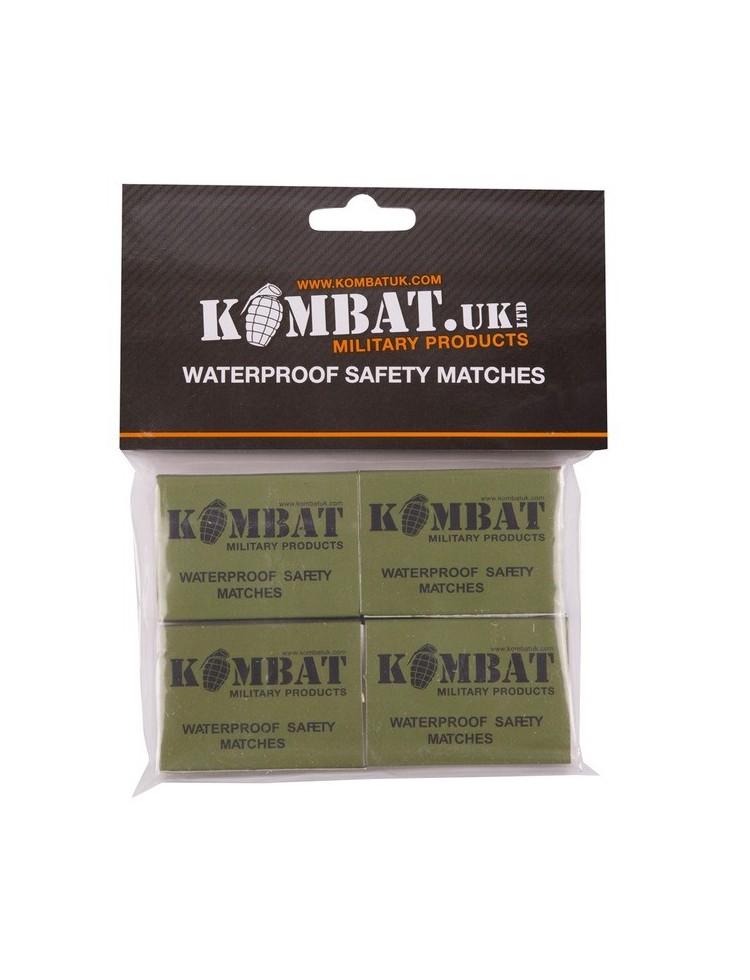 Cerillas Waterproof, resistentes al agua.