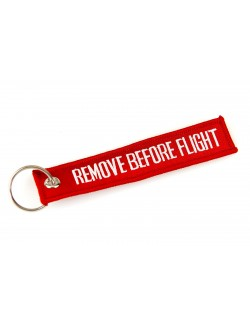 Llavero ′REMOVE BEFORE FLIGHT′