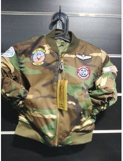Bomber niños MA1 parches, woodland