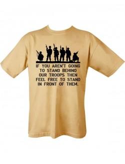 Camiseta Behind Troops, desert.
