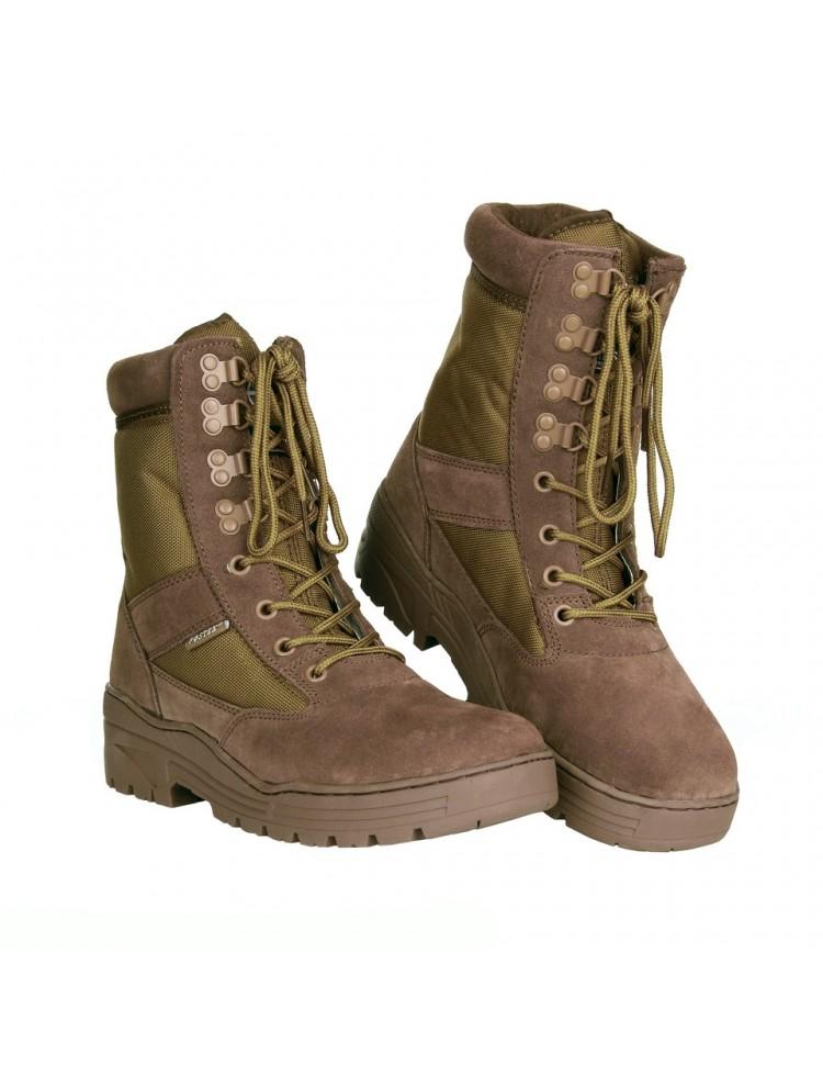 Botas de combate color marrón