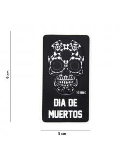 Parche 3D PVC Dia de Muertos Negro