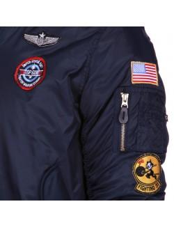 Bomber MA1 piloto para niños, azul