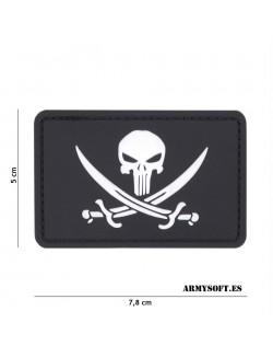Parche 3D PVC Punisher pirata