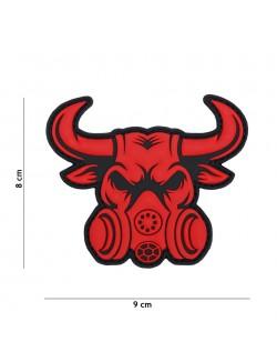 Parche 3D PVC Toro con máscara de gas