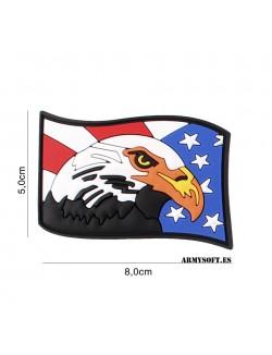 Parche 3D PVC Aguila USA