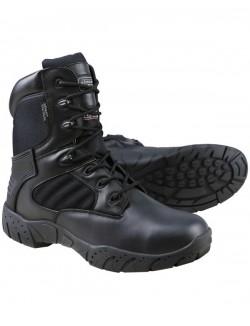 Botas de combate Pro, con cremallera, negras
