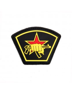 Parche 3D PVC Estrella rusa
