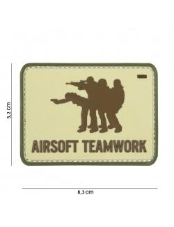 Parche 3D PVC Airsoft Teamwork