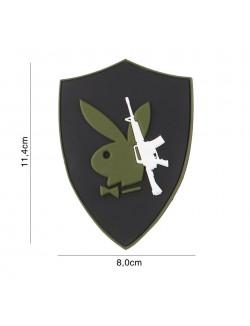 Parche 3D PVC Playboy gun