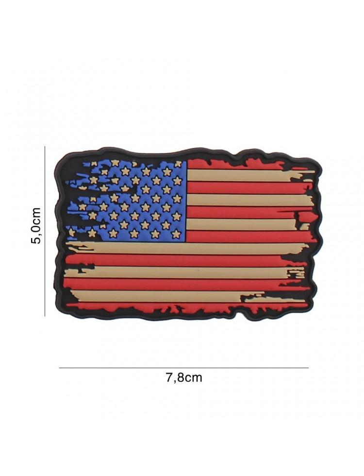 Parche 3D PVC USA vintage