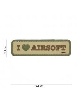 Parche 3D PVC I Love Airsoft