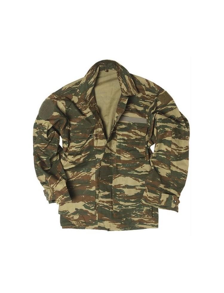 Chaqueta militar, camuflaje, ejército griego